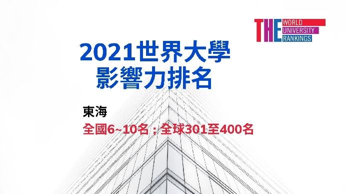 2021世界大學影響力排名